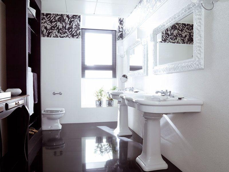 Baños románticos | Baños románticos, Espejo ovalado y Decoración baño