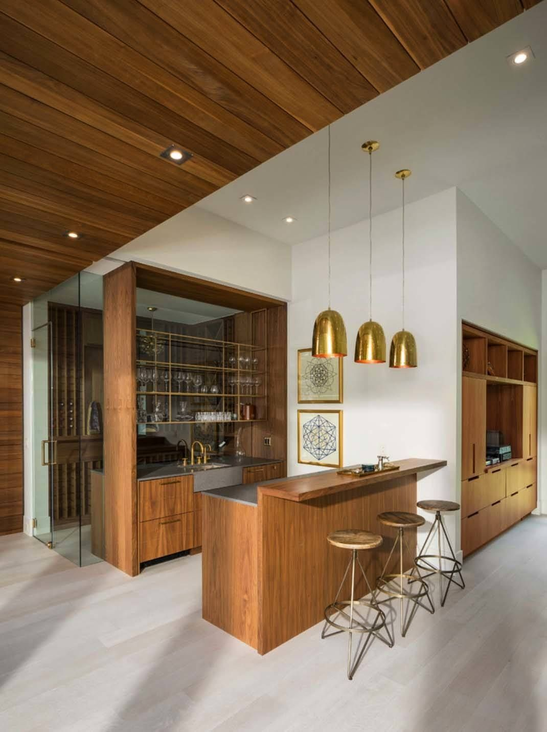 Modern Residence In Utah Showcases Exquisite Design Features Bar