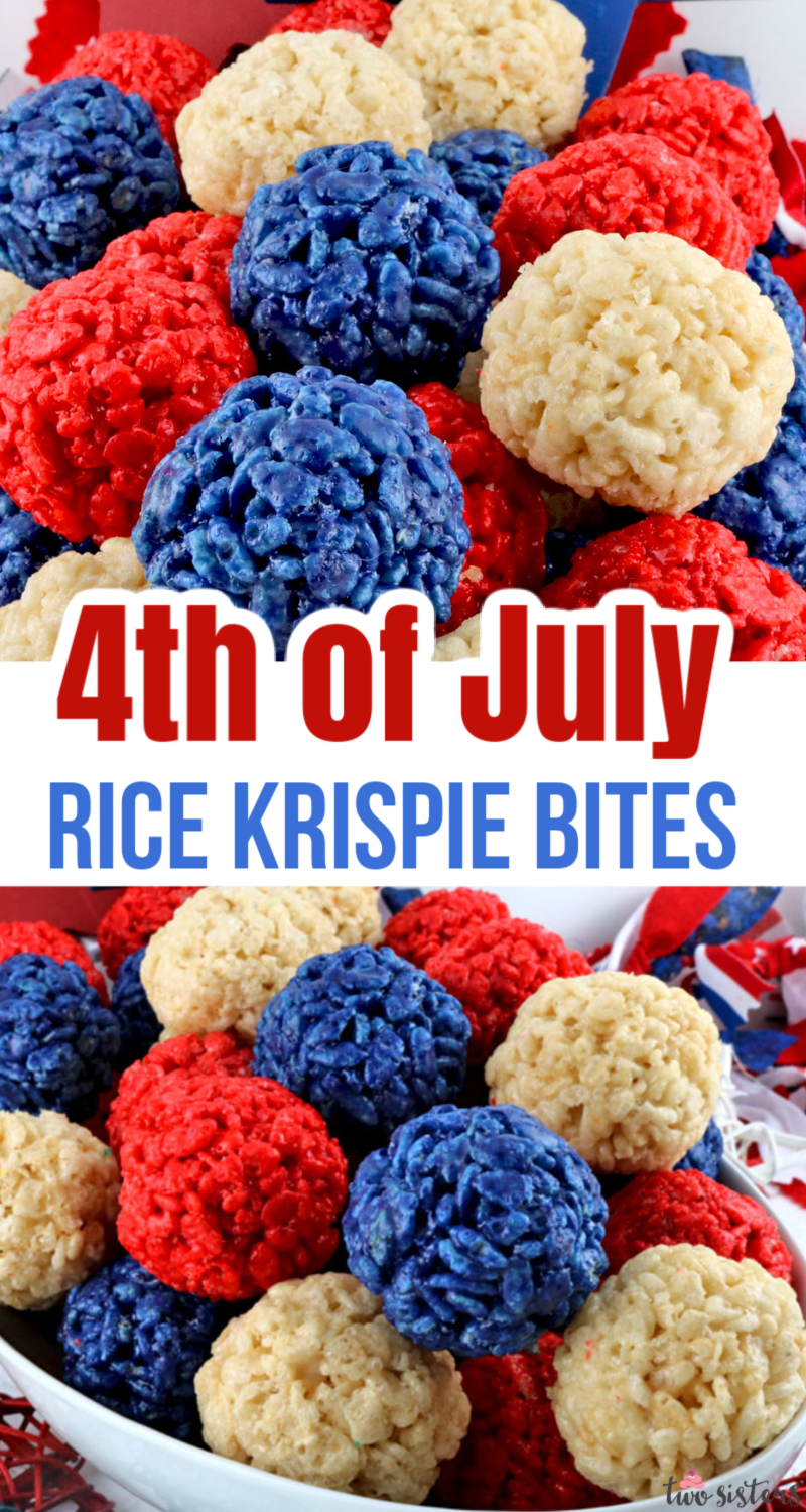 4th of July Rice Krispie Bites