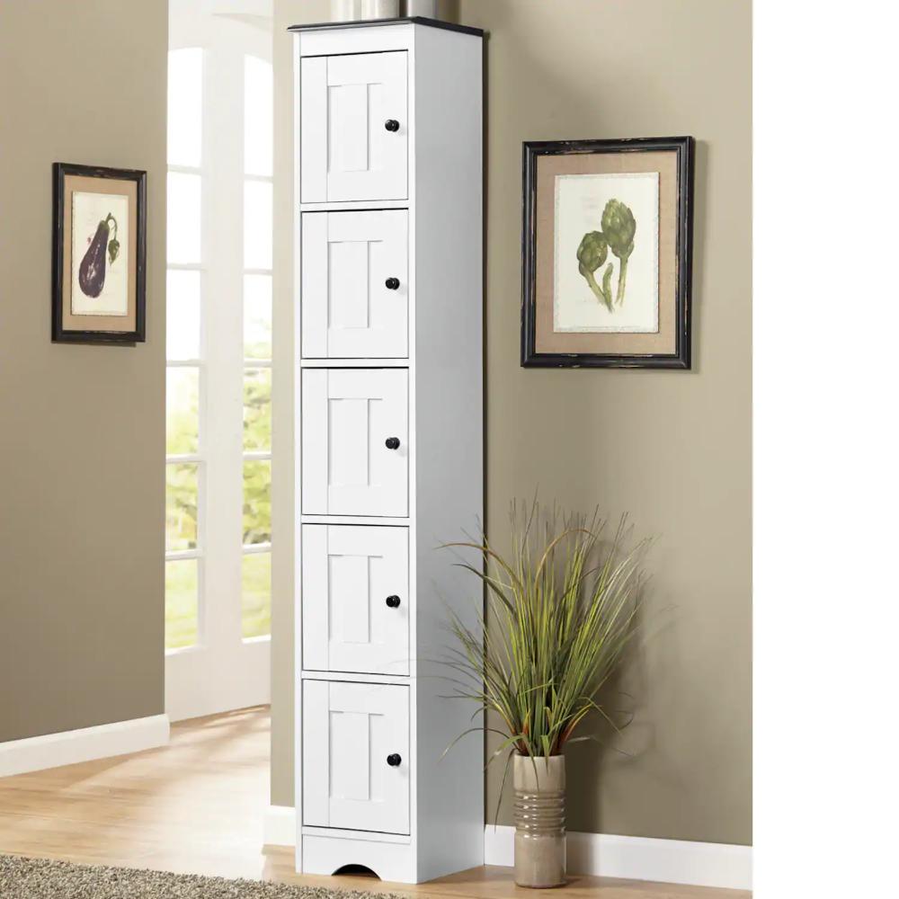 Katie 5 Door Tall Kitchen Cabinet Tall Kitchen Cabinets Tall Bathroom Storage Cabinet Tall Bathroom Storage