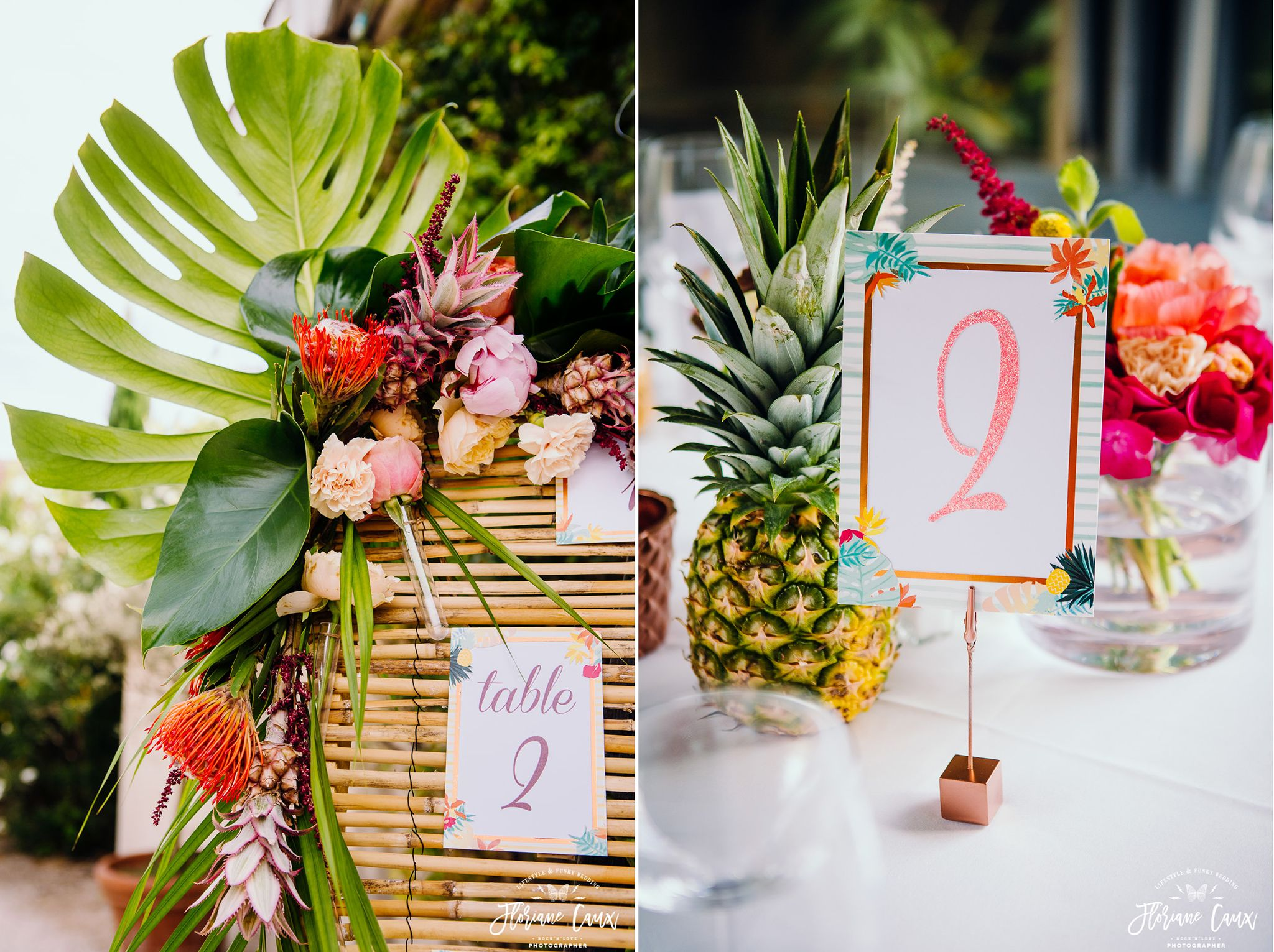 Mariage Tropicool Ananas Et Flamingo Plan De Table Jungle Florida Photographe Floriane