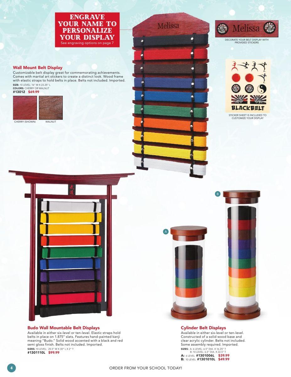 Century Martial Arts Belts Racks Acrylic Belt Display