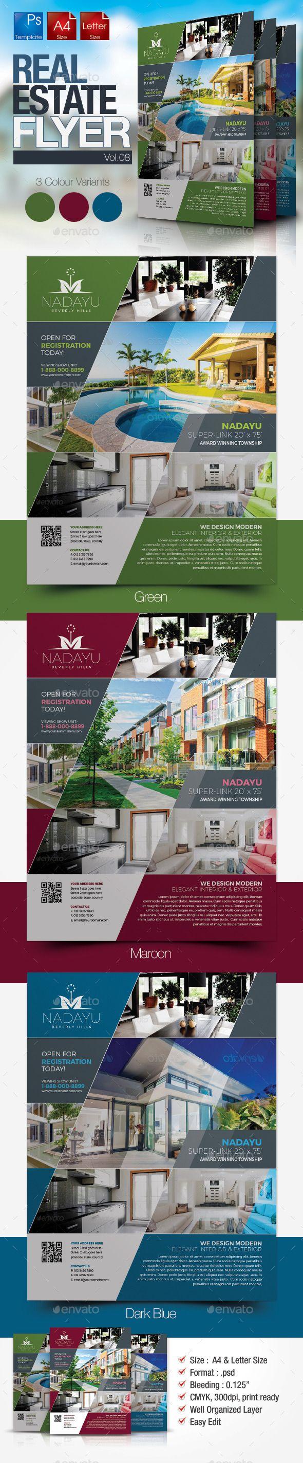 Simple Real Estate Flyer Vol Pinterest Real Estate Flyers - Photoshop real estate flyer templates
