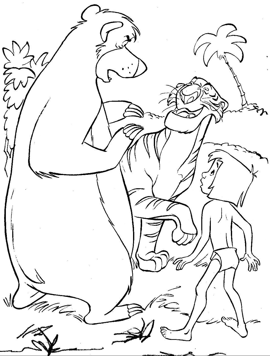 The Jungle Book Coloring Pages For Kids Printable Free Cartoon Coloring Pages Coloring Books Colouring Pages