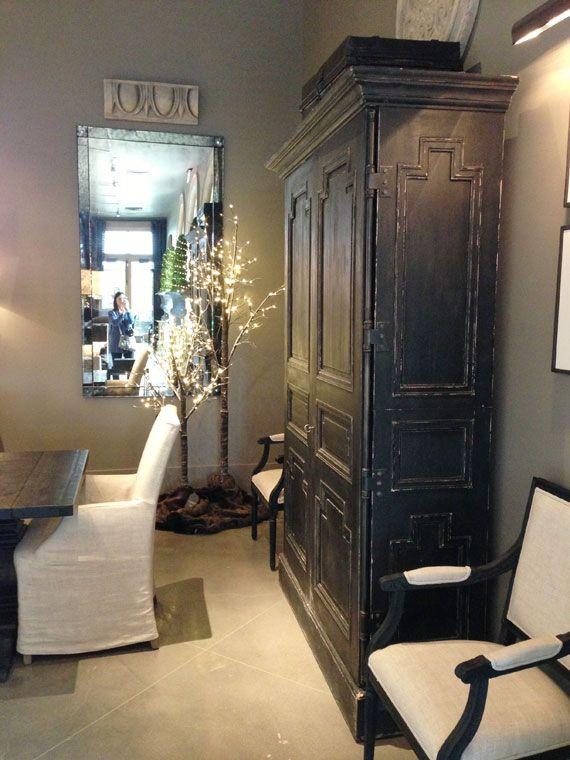 Montpellier Armoire in Black, Restoration Hardware (for storage ...