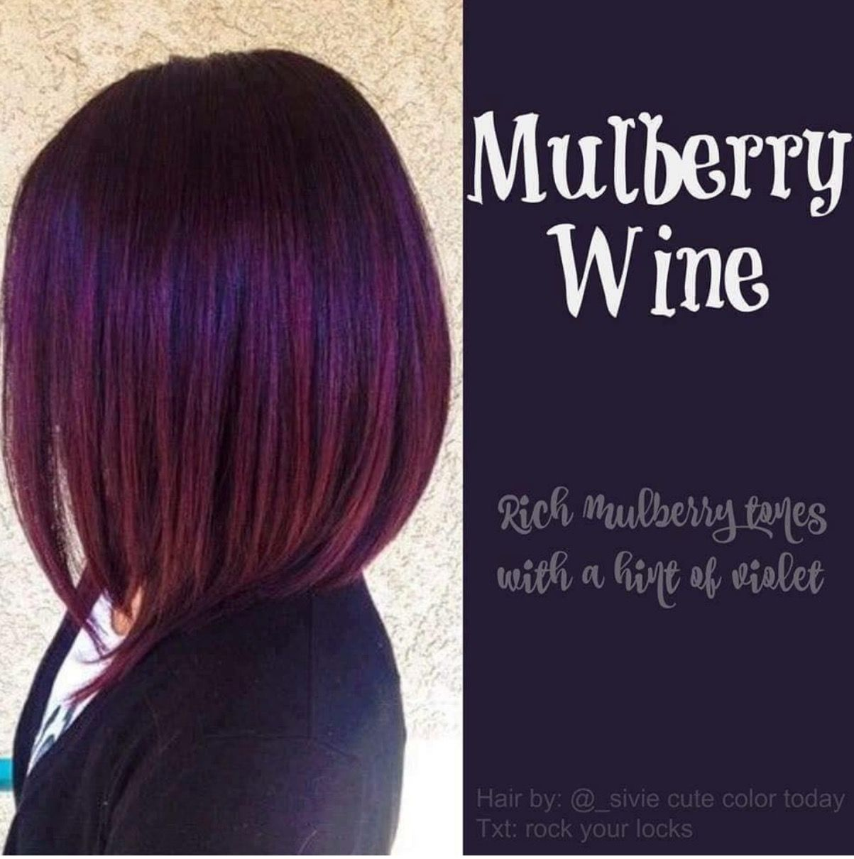 Mulberry Wine Hair Color Fashion Lifestyle Pinterest Wine Hair
