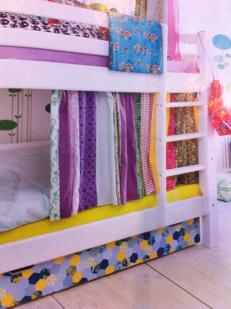 Bunk bed curtains what i want to create soon for Bunk bed ideas