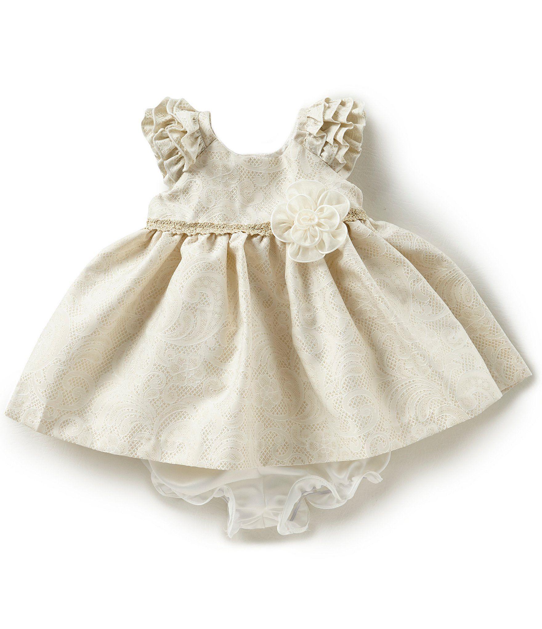 bf4247b3c01 Shop for Laura Ashley London Baby Girls Newborn-24 Months  Metallic-Patterned Brocade Dress at Dillards.com. Visit Dillards.com to  find clothing