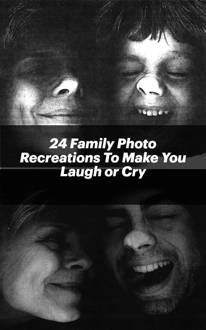 One of the best things about photos is that they capture memories that you can look back on years later. One of the most fun things about those photo memories, however, is having the chance to recreate them. It's a great way for you to see how you've changed over the years and to bond with your family all over again. It can also have some really hysterical or really sweet results. Here are 24 times that people absolutely got it perfect when it came to their family photo recreations.