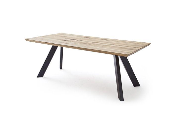 Esstisch Eiche massiv mit Metallbeine Tables Pinterest Tables
