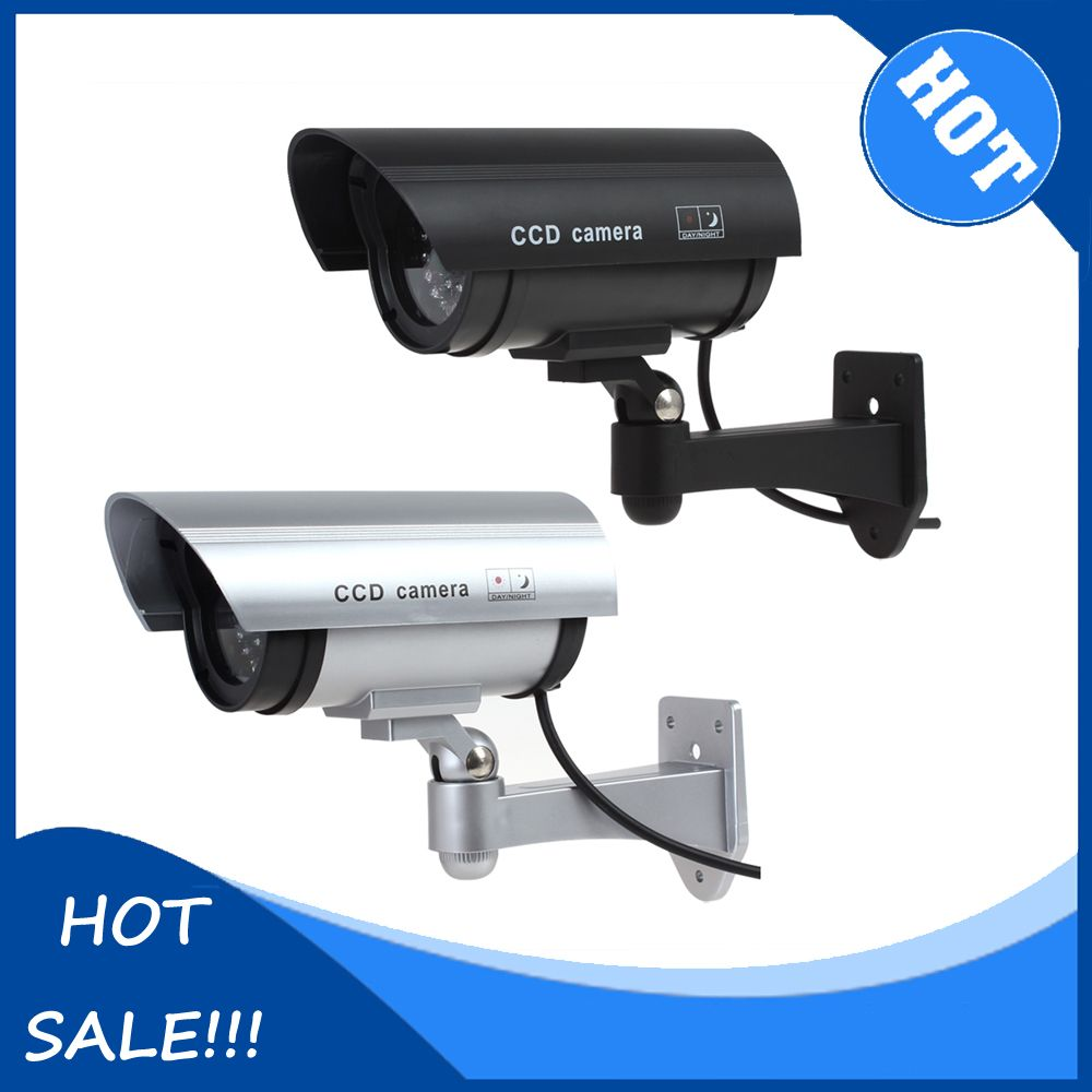 Black Sliver Realistic Looking Simulated Dummy Ir Ccd Security Kamera Cctv Led Camera Affiliate