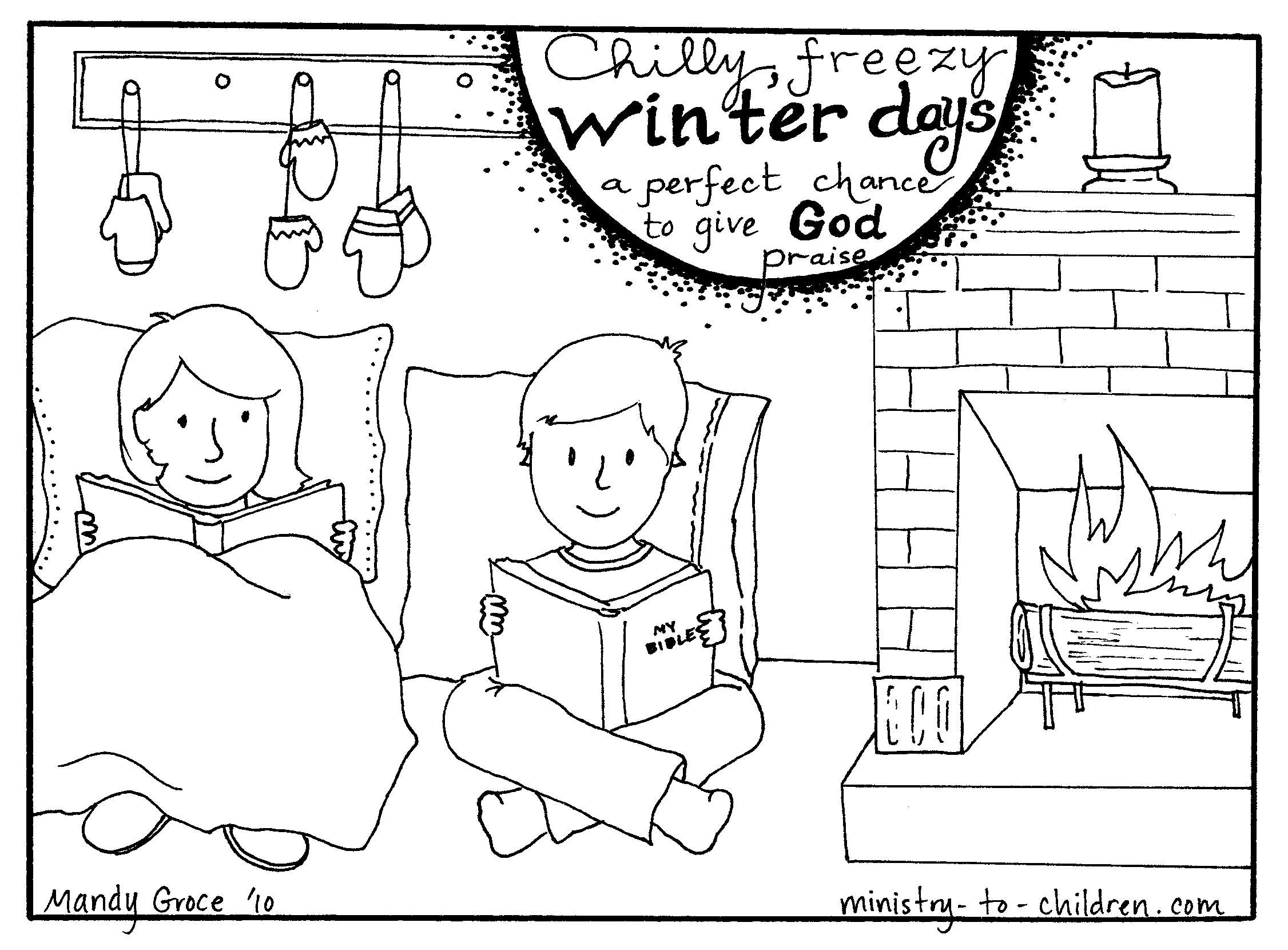 Winter Coloring Page | Homeschool-Winter | Pinterest | Winter