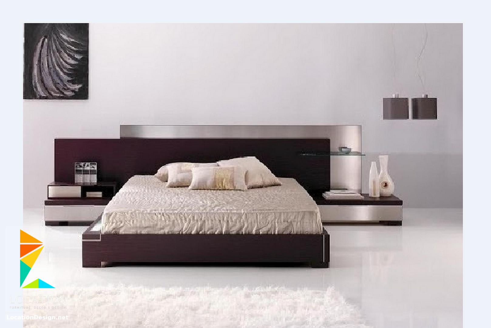 احدث تصميمات غرف نوم مودرن للعرسان بكل شكل ولون موضة 2019 لوكشين ديزين نت Bedroom Furniture Design Luxury Bedroom Master Bedroom Bed Design