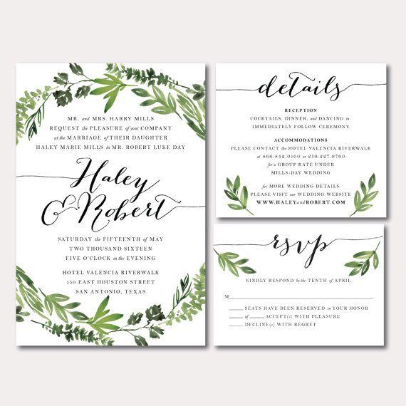 Wedding Invitations Details: Printable Wedding Invitation Suite