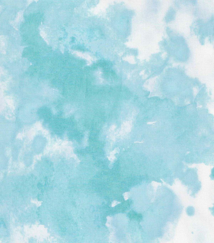 keepsake calico cotton fabric in the garden teal watercolor