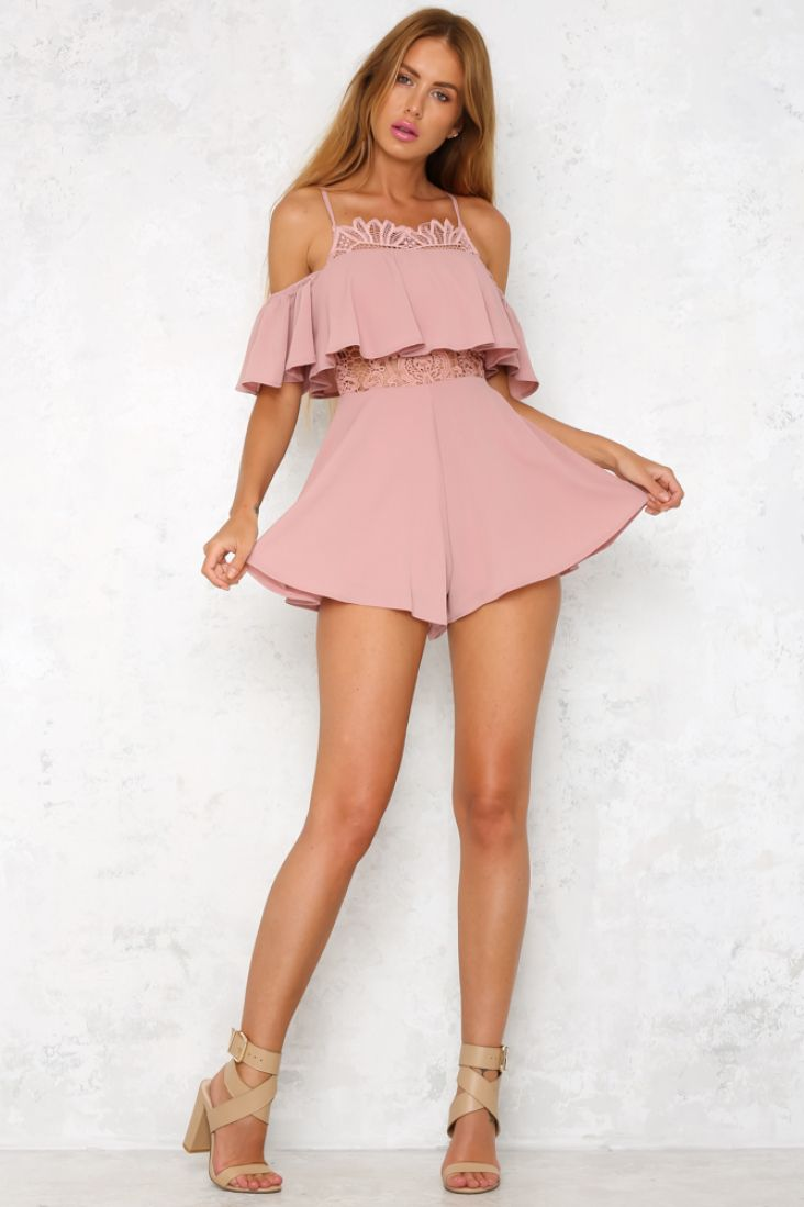 42ae91ece65 The beautiful Lucid Dreaming Playsuit features a high neck which is  decorated by a sheer