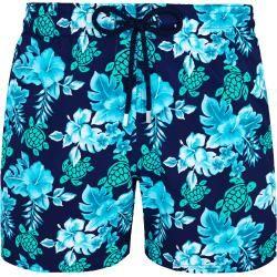 Photo of Trajes de baño para hombres – Trajes de baño Turtles Flowers con estiramiento para hombres – shorts de baño – moorise – azul – L