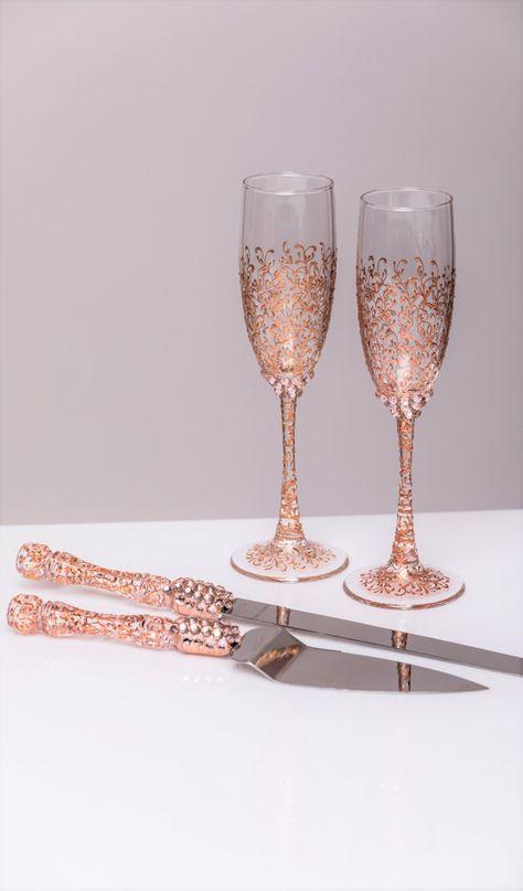 Wedding Cake Server Set Rose Gold Wedding Rose Gold Accessories