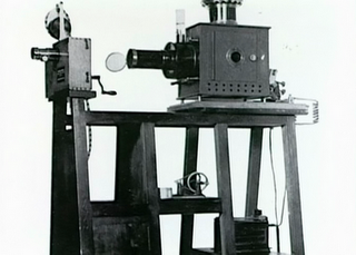 1895 - Moving picture projector patented