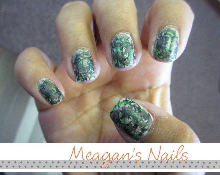 mossy oak camo nail. polish
