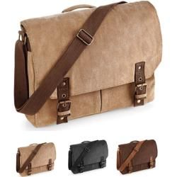 Photo of Qd625 Quadra Vintage Canvas Satchel Messenger Quadra