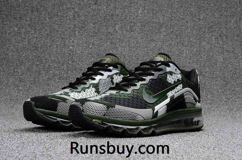 b59c2b898db2 New Coming Nike Air Max 2017 8+ KPU Men Shoes Camo Green https