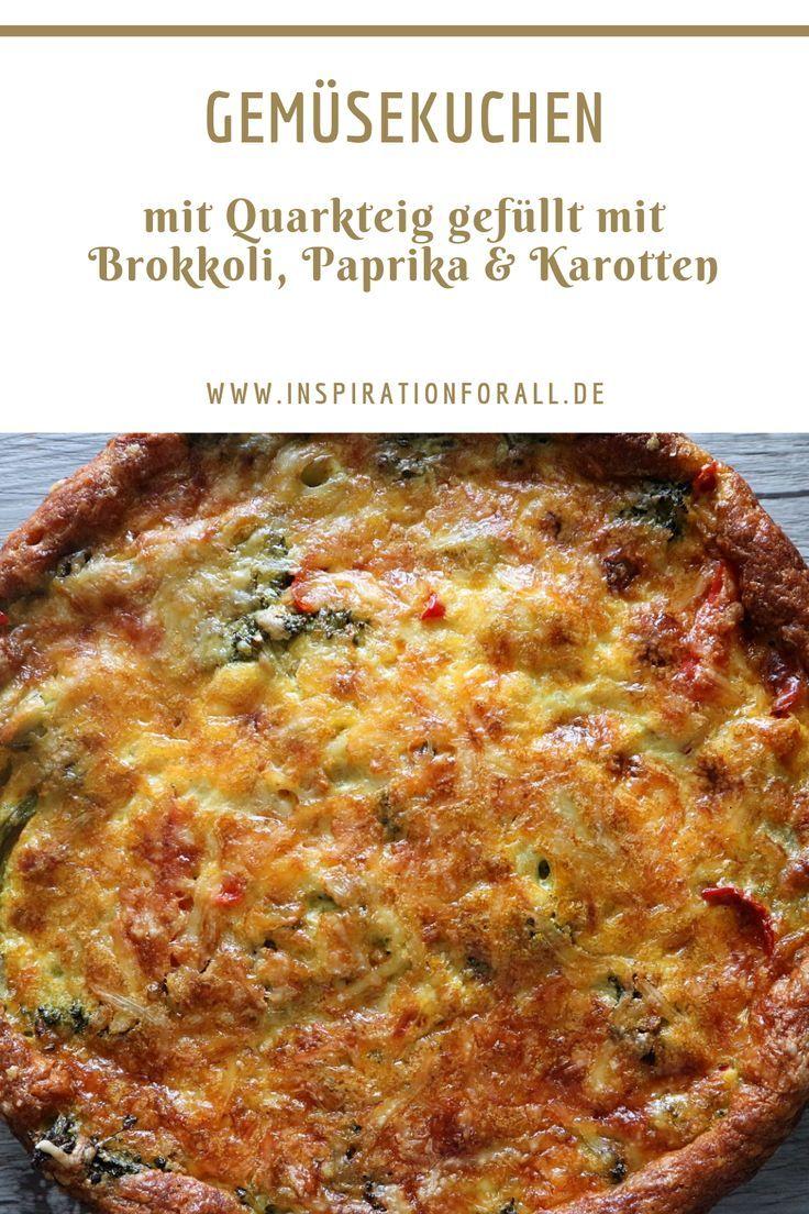 Gemüsekuchen mit Brokkoli & Quarkteig – einfaches Rezept #vegetarischerezepteschnell