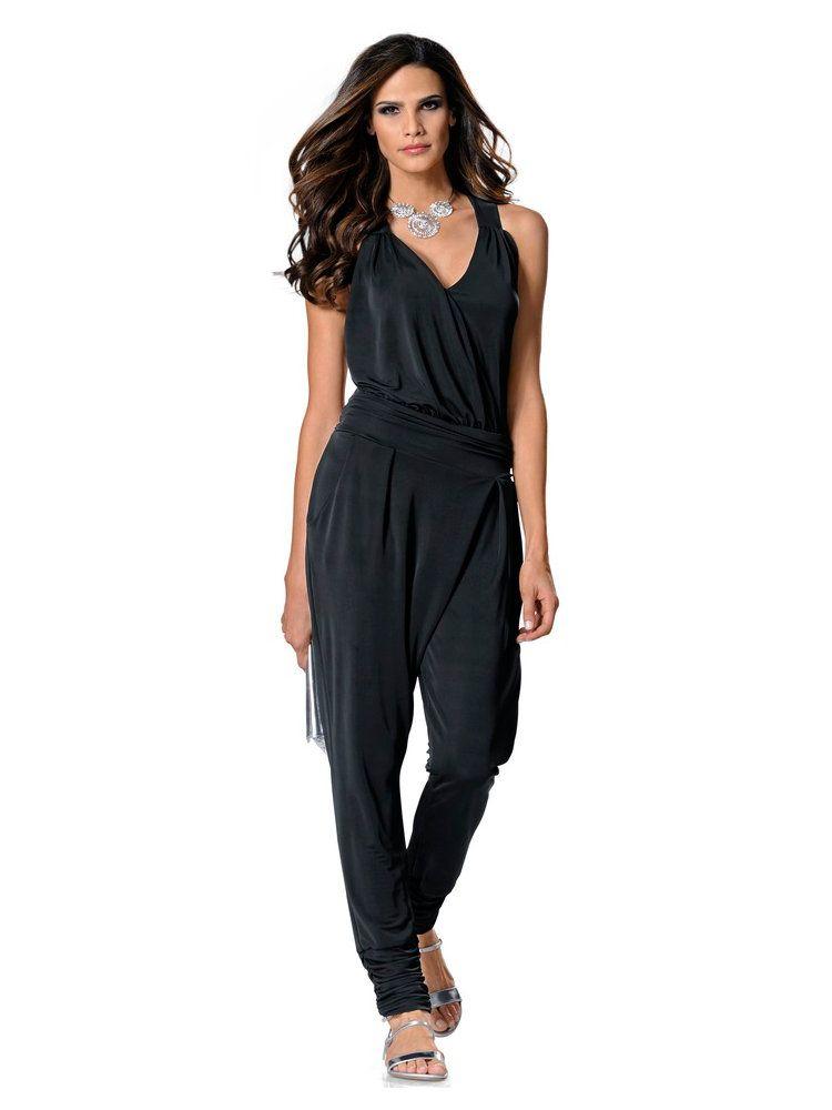 combinaison noire fluide drap e alternative la robe noire collections mode helline. Black Bedroom Furniture Sets. Home Design Ideas