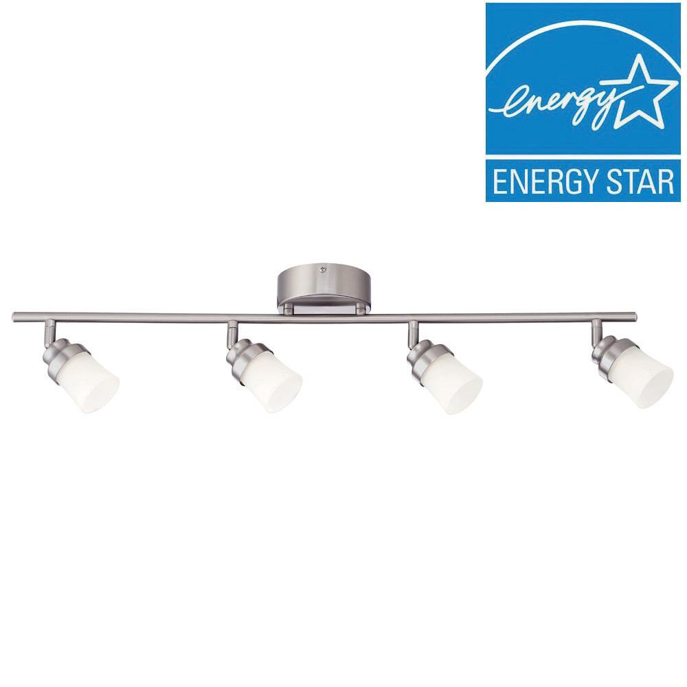 Brushed Nickel Integrated Led