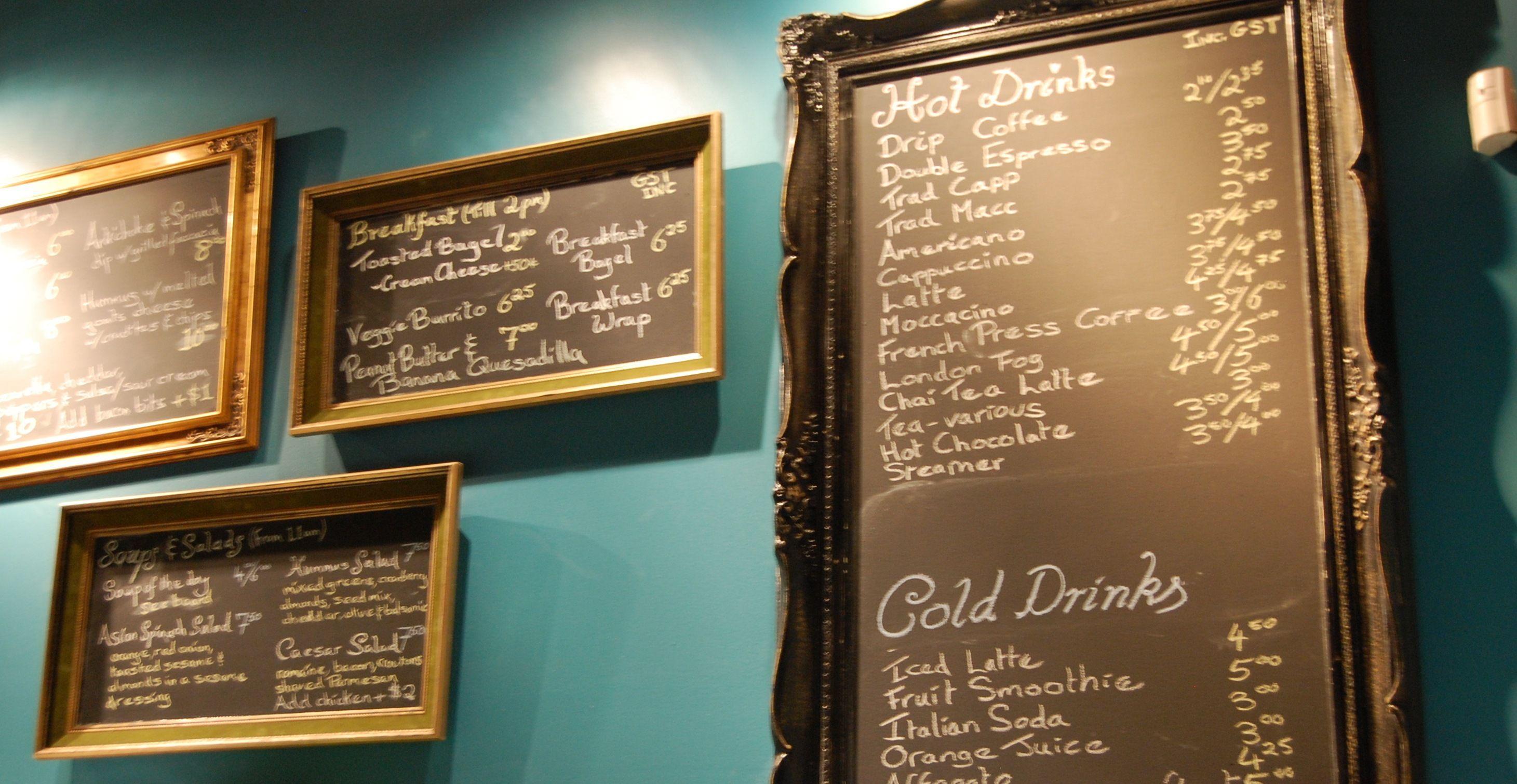 Cafe Haven Coffee Shop Menu Board Coffee Shop Menu My Coffee Shop
