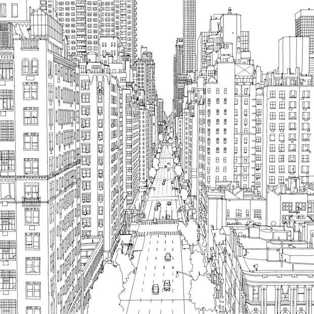 Gallery Of Fantastic Cities A Coloring Book Of Real And Imagined