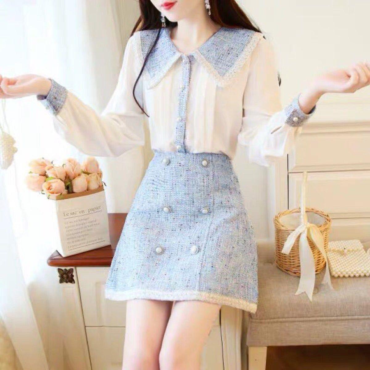 Women korean style fashion Shirt skirt M  Fashion outfits