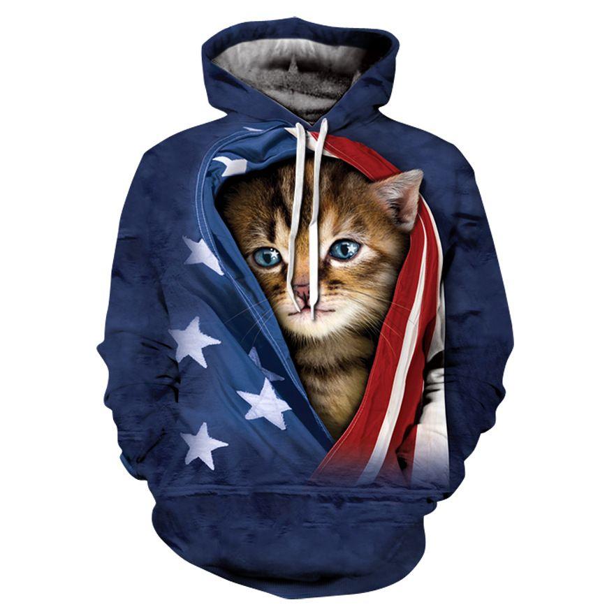 2a2b54fc19e3 Funny Cat Print 3D Fashion Hoodies 2018 Autumn Winter Men Women With Hood  Sweatshirt Hip Hop Tracksuit Long Sleeve Hoody Hot Top