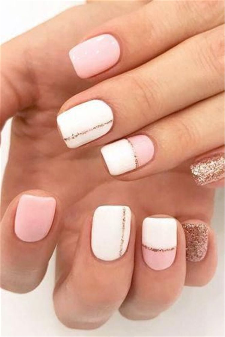 Spring Square Acrylic Nails Designs Square Acrylic Nails Spring Nails White Nails Pink Nai Cute Summer Nail Designs Nail Designs Summer Short Acrylic Nails