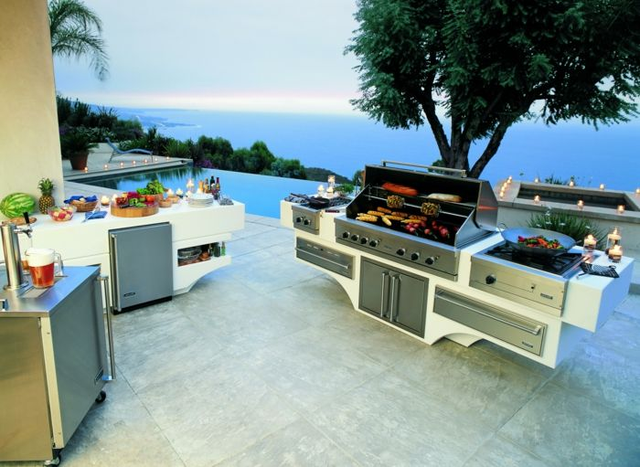 outdoor k che f r den sommer die verschiedenen aspekte. Black Bedroom Furniture Sets. Home Design Ideas
