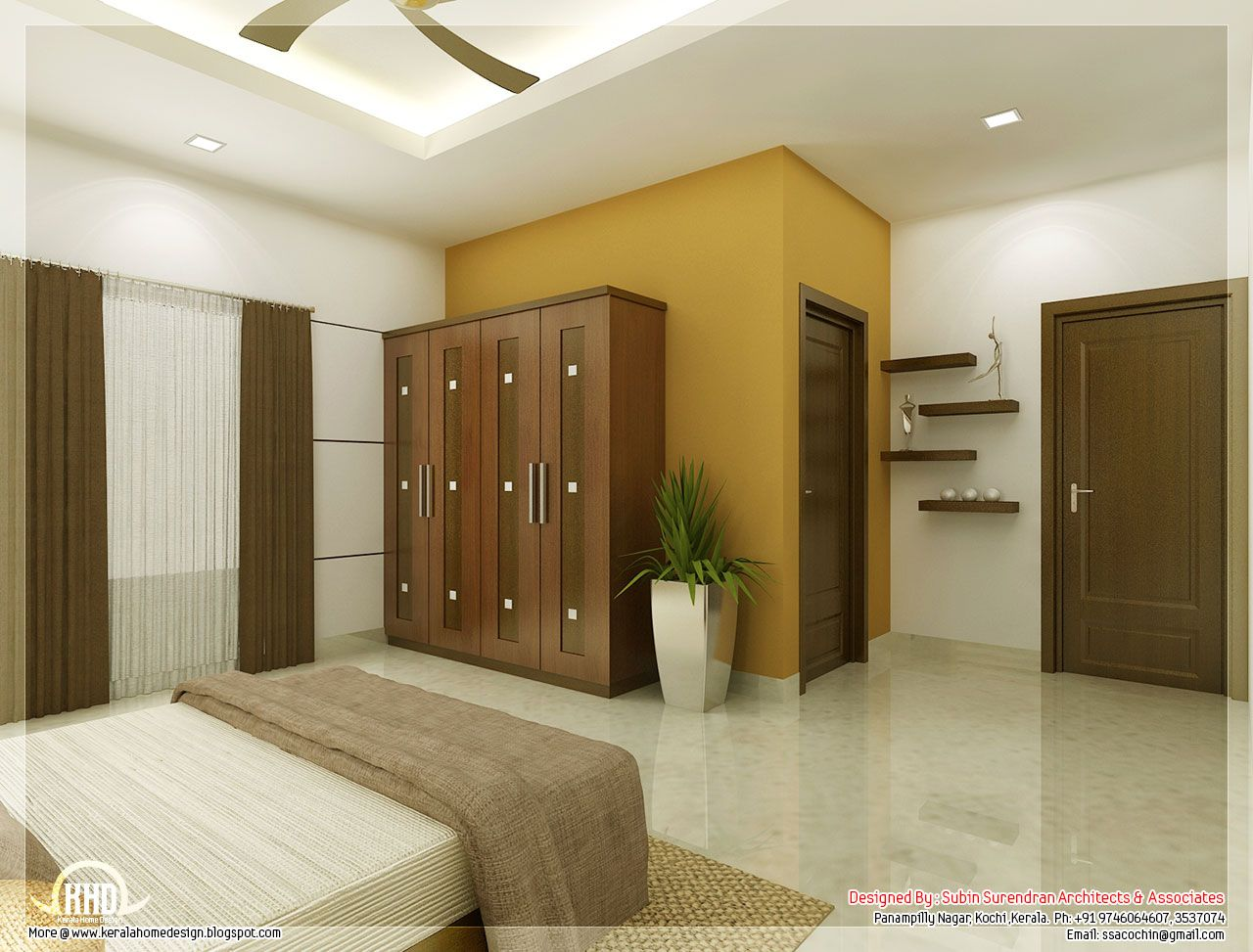Beautiful Bedroom Interior Designs Kerala House Design With