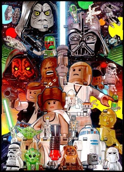 Art Lego Star Wars fun