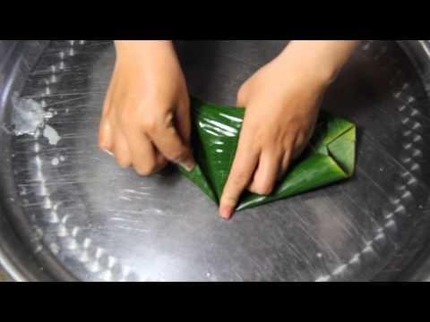 Cách gói bánh ít Miền tây - YouTube