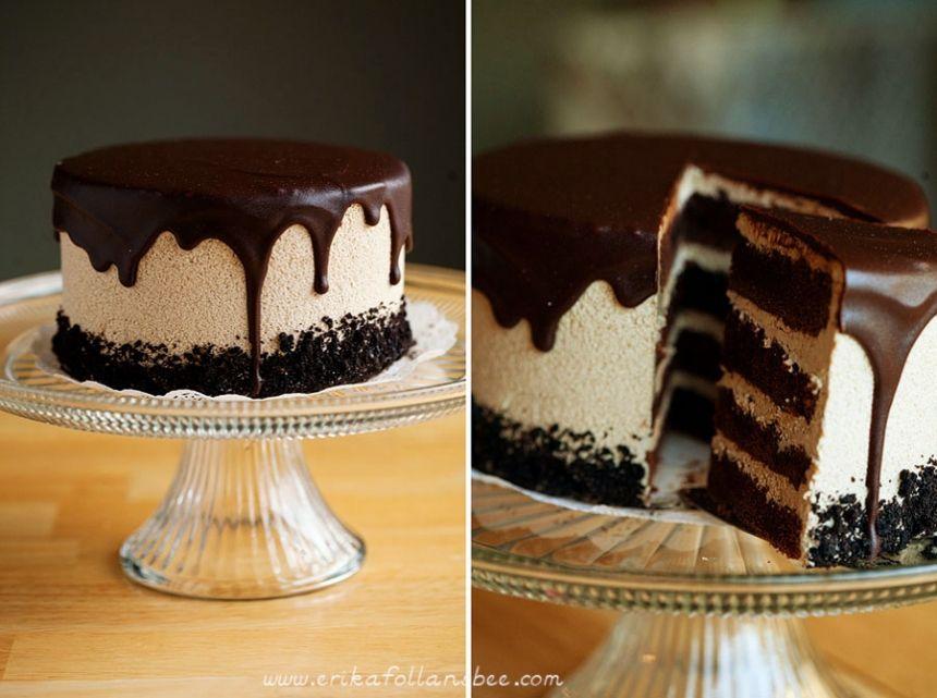 Mocha Chocolate Layer Cake - Black Forest Cafe - Photography by Erika Follansbee