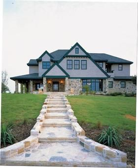 e Story Style House Plan with 2 Bed 2 Bath 2 Car Garage