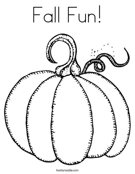 Fall Fun Coloring Page