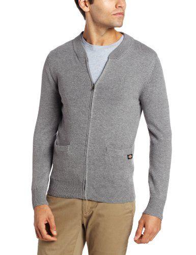 Dickie's Men's Postman Solid Zip Cardigan for only $24.99 You save: $35.01 (58%)