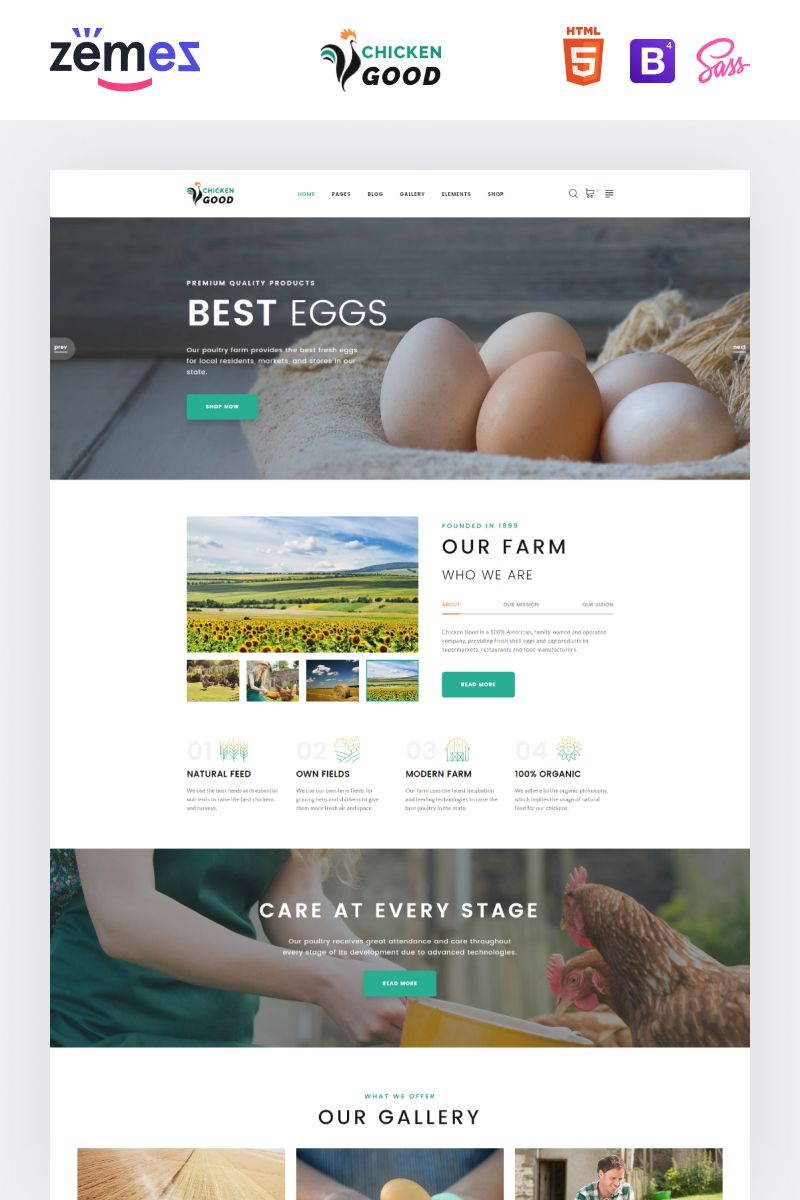 Chicken Good Poultry Farm Multipage Html Website Template In 2020 Html Website Templates Website Template Poultry Farm