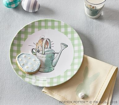 Beatrix Potter(TM) Gingham Plates Peter And Watercan & Beatrix Potteru0026#8482; Gingham Plates | Gingham and Products