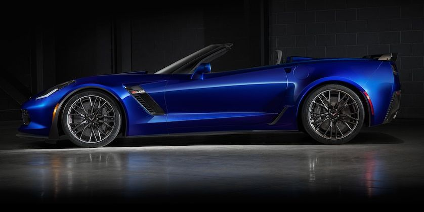 2018 Corvette Z06 Convertible Exterior Photo Side Laguna Blue