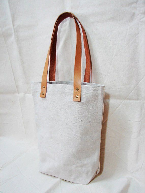 Leathinity - Blank Original   Black Canvas Tote Bag w  Genuine Leather  Handles - Eco Friendly 85ba2ee76