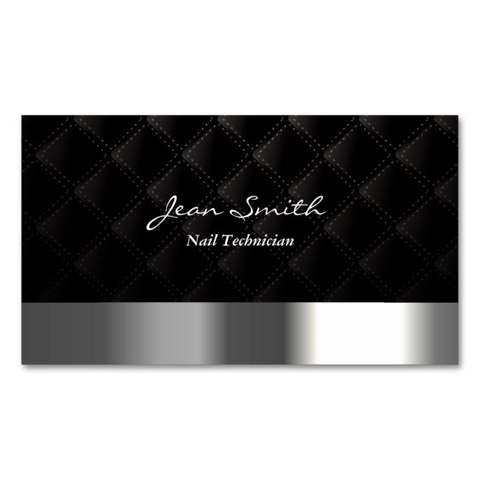Modern Diamond Quilt Nail Technician Business Card Make Your Own With This Great Design All You Need Is To Add Info Template
