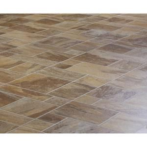 Amber Random Slate 10mm Thick X 15-1/2 In. W X 46-1/2 In. L Laminate Flooring-fg8430 At The Home Depot