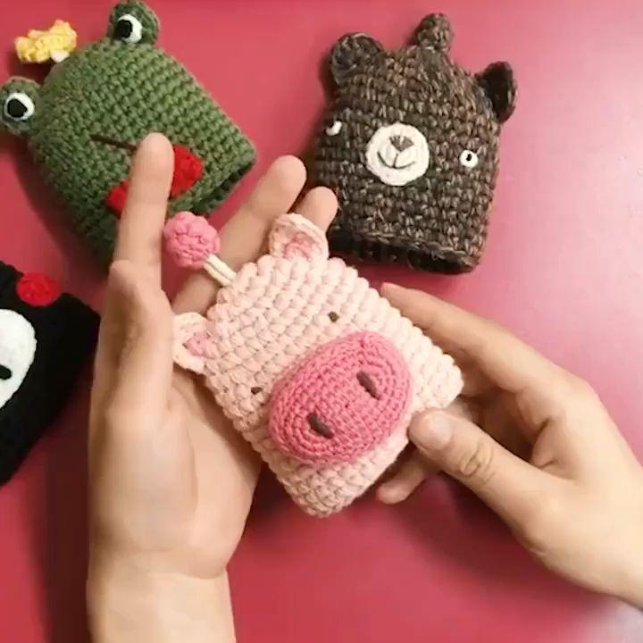 Handmade Hoodie AirPods Case  #crochetformoney
