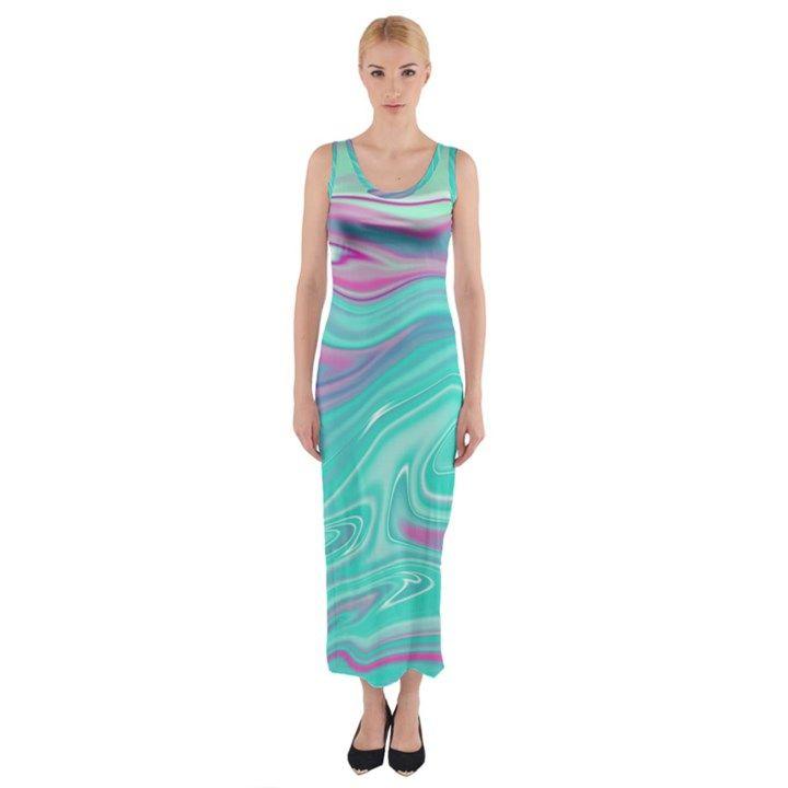 Iridescent marble pattern fitted maxi dress mit bildern